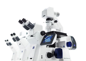 Image: The Axio Observer family consists of three stable and modular microscope stands for flexible and efficient imaging (Photo courtesy of ZEISS).