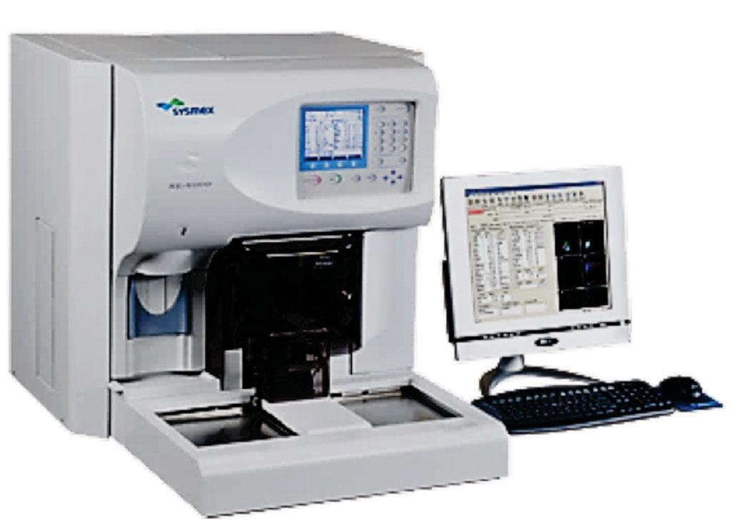 图片:XE-2100自动化血液参数分析仪(图片蒙Sysmex公司惠赐)。