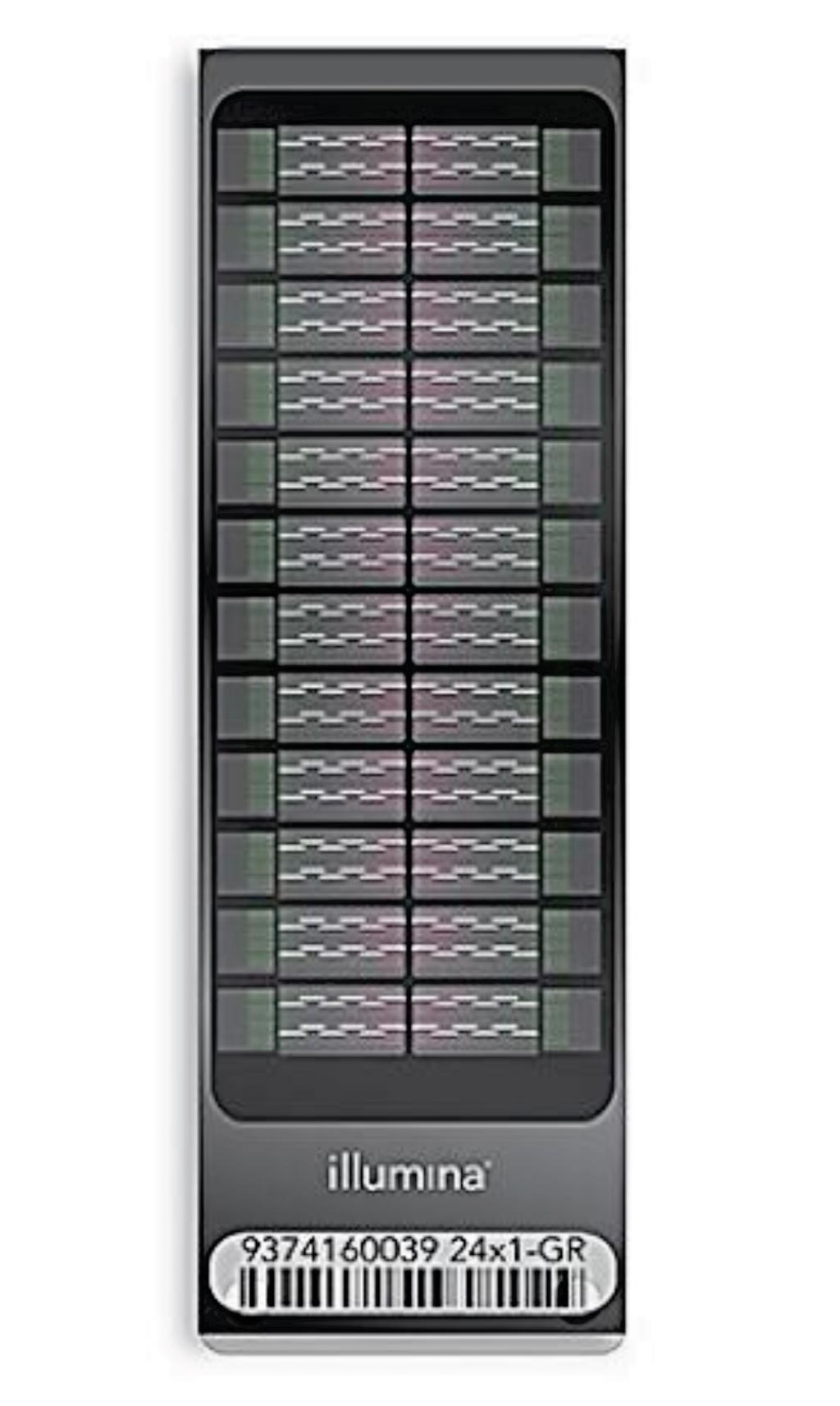 图片:Infinium OmniExpress-24 Kit是能容纳24份样本的 BeadChip阵列,具有每周数千份样本的超常通量,能实现强大的人类全基因组关联研究 (GWAS)(图片蒙Illumina公司惠赐)。