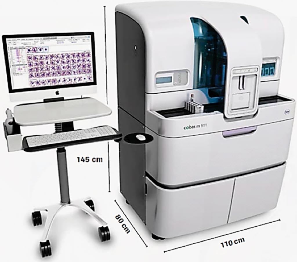 图片:cobas m 511一体化血液分析仪(图片蒙罗氏公司惠赐)。