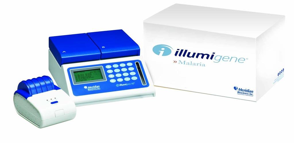 图片:Illumigene Malaria是一种疟疾诊断性检测工具,使用环介导等温扩增(LAMP)技术扩增DNA和检测存在的疟原虫(照片由Meridian Bioscience提供)。
