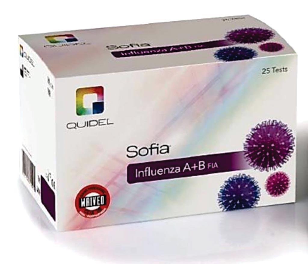 图片:Sofia甲流乙流FIA检验试剂盒(图片蒙Quidel公司惠赐)。