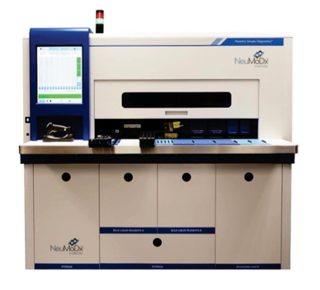 图片:在288分子系统上运行NeuMoDx GBS测定(图片蒙NeuMoDx Molecular公司惠赐)。