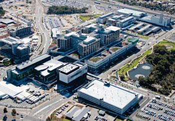 Imagen: Una vista aérea del Hospital Fiona Stanley (Foto cortesía del gobierno de Australia Occidental).