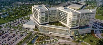 Imagen: Vista aérea del Hospital Universitario William P. Clements Jr. (Foto cortesía de UT Southwestern).