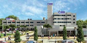 Imagen: El Hospital expandido Ciudad de Saket en Nueva Delhi (Fotografía cortesía del Hospital de la Ciudad de Saket).
