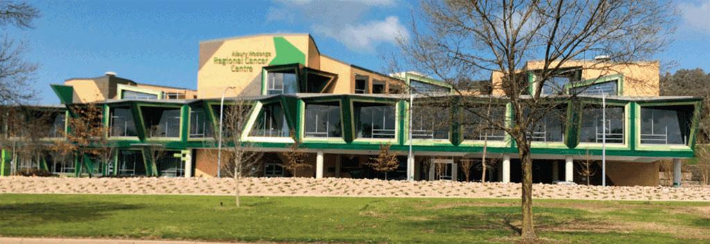Imagen: El nuevo Centro Regional del Cáncer Albury Wodonga (Fotografía cortesía del Gobierno de Victoria).