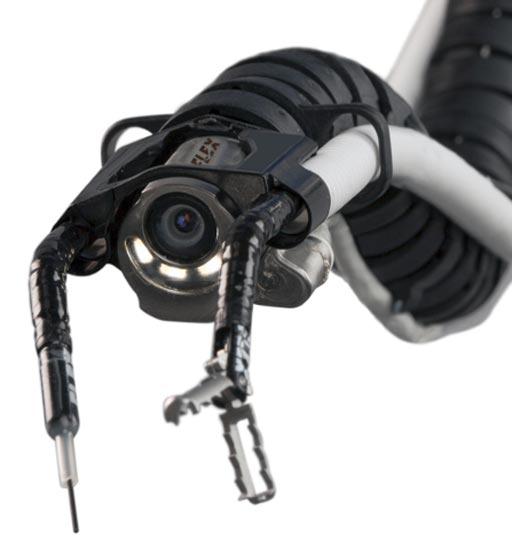 Imagen: La cabeza del sistema robótico Medrobotics Flex (Fotografía cortesía de Medrobotics).