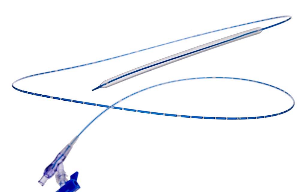 Imagen: El catéter Lutonix 035 DCB PTA (Fotografía cortesía de C. R. Bard).