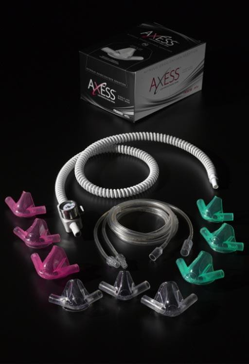 Imagen: Las máscaras nasales de sedación ofrecen una mayor comodidad para los pacientes (Fotografía cortesía de Crosstex).