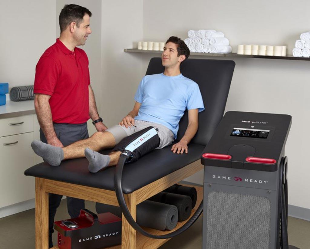 Imagen: El diseño del Med4 Elite permite que sirva como una poderosa herramienta de rehabilitación ortopédica multimodal (Fotografía cortesía de Game Ready).