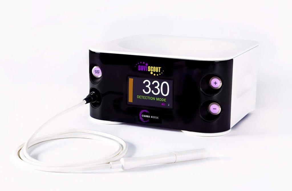Imagen: El sistema de guía quirúrgica Savi Scout (Fotografía cortesía de Cianna Medical).