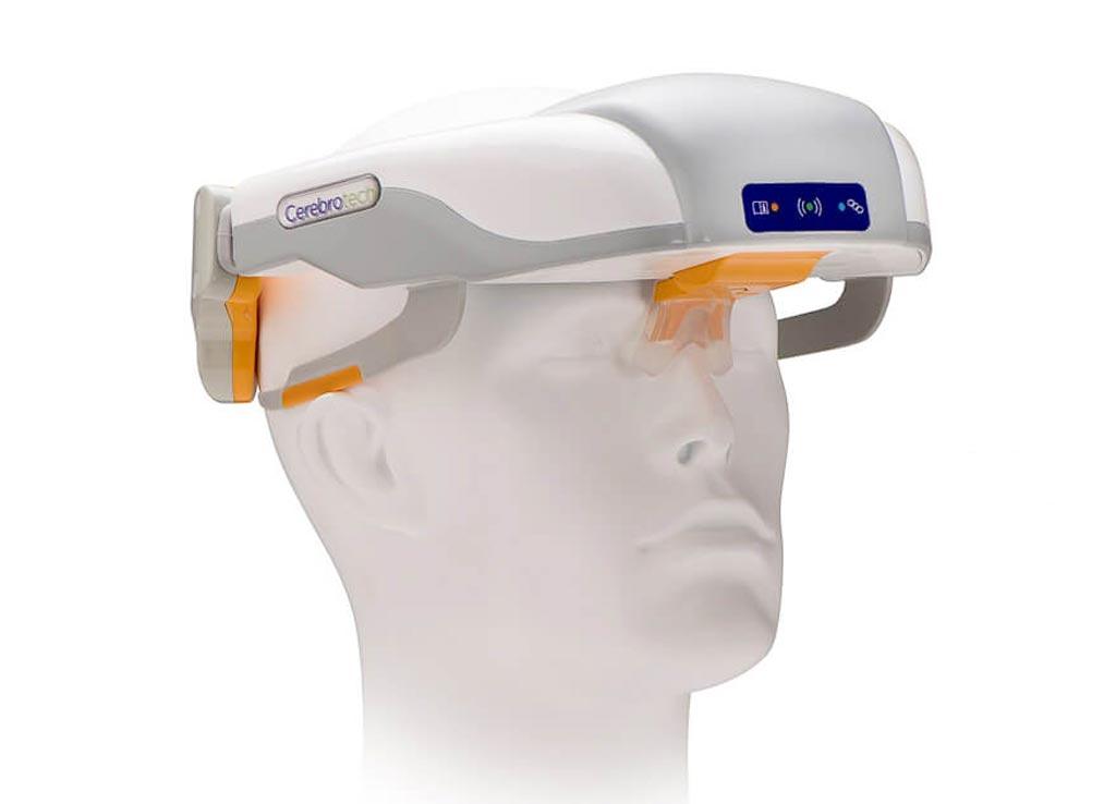 Imagen: Un dispositivo de espectroscopia de bioimpedancia detecta el flujo de sangre en el cerebro (Fotografía cortesía de Cerebrotech).