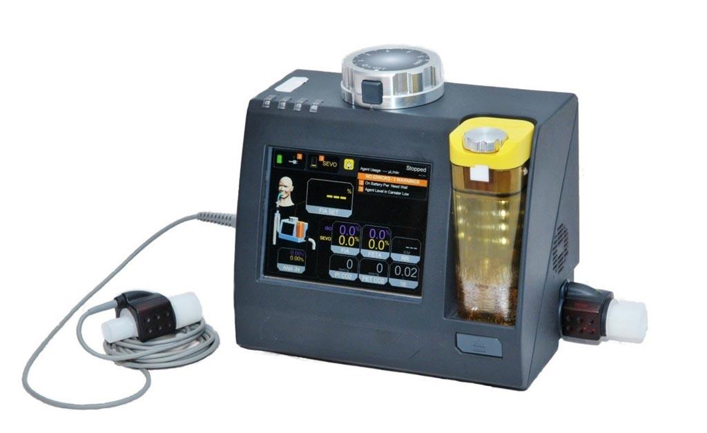 Imagen: El dispositivo de anestesia MADM es lo suficientemente pequeño como para poder ser usado en el campo (Fotografía cortesía de Thornhill Medical).