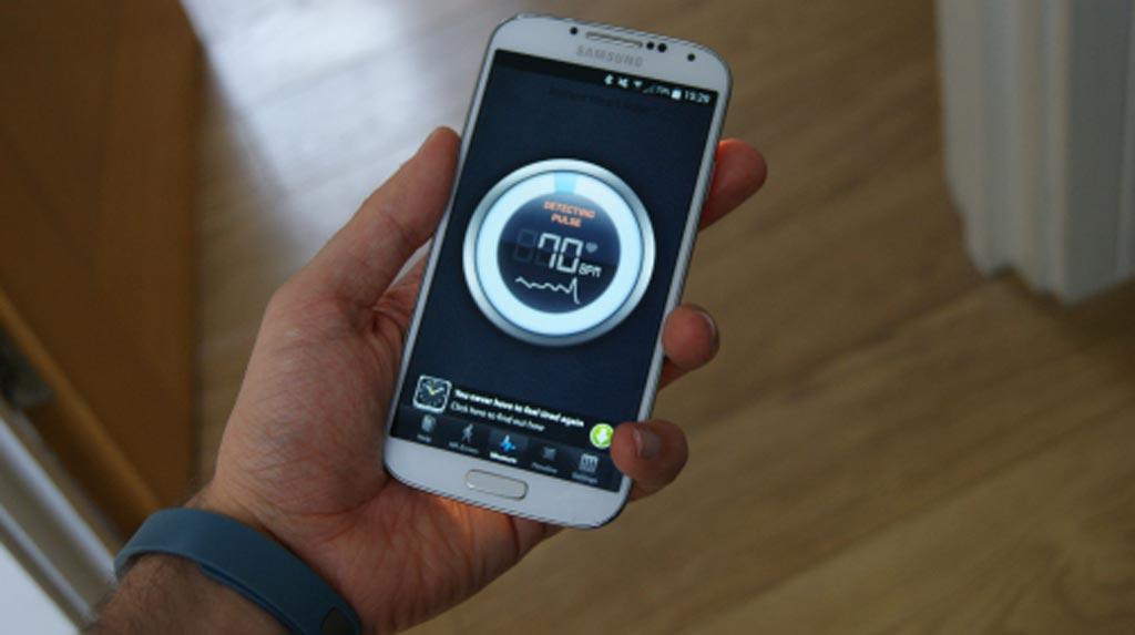 Imagen: La aplicación de monitorización Instant Heart Rate (Fotografía cortesía de Azumio).