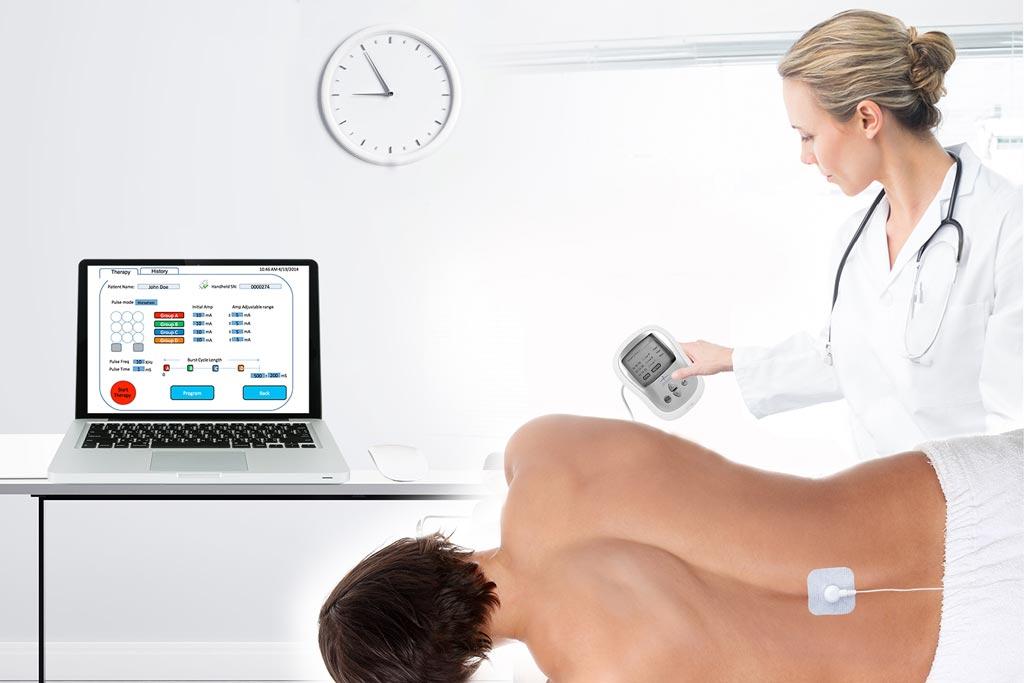 Imagen: Las investigaciones muestran que la estimulación espinal no invasiva puede ayudar a los pacientes con LME a recuperar el control motor (Fotografía cortesía de NeuroRecovery Technologies).