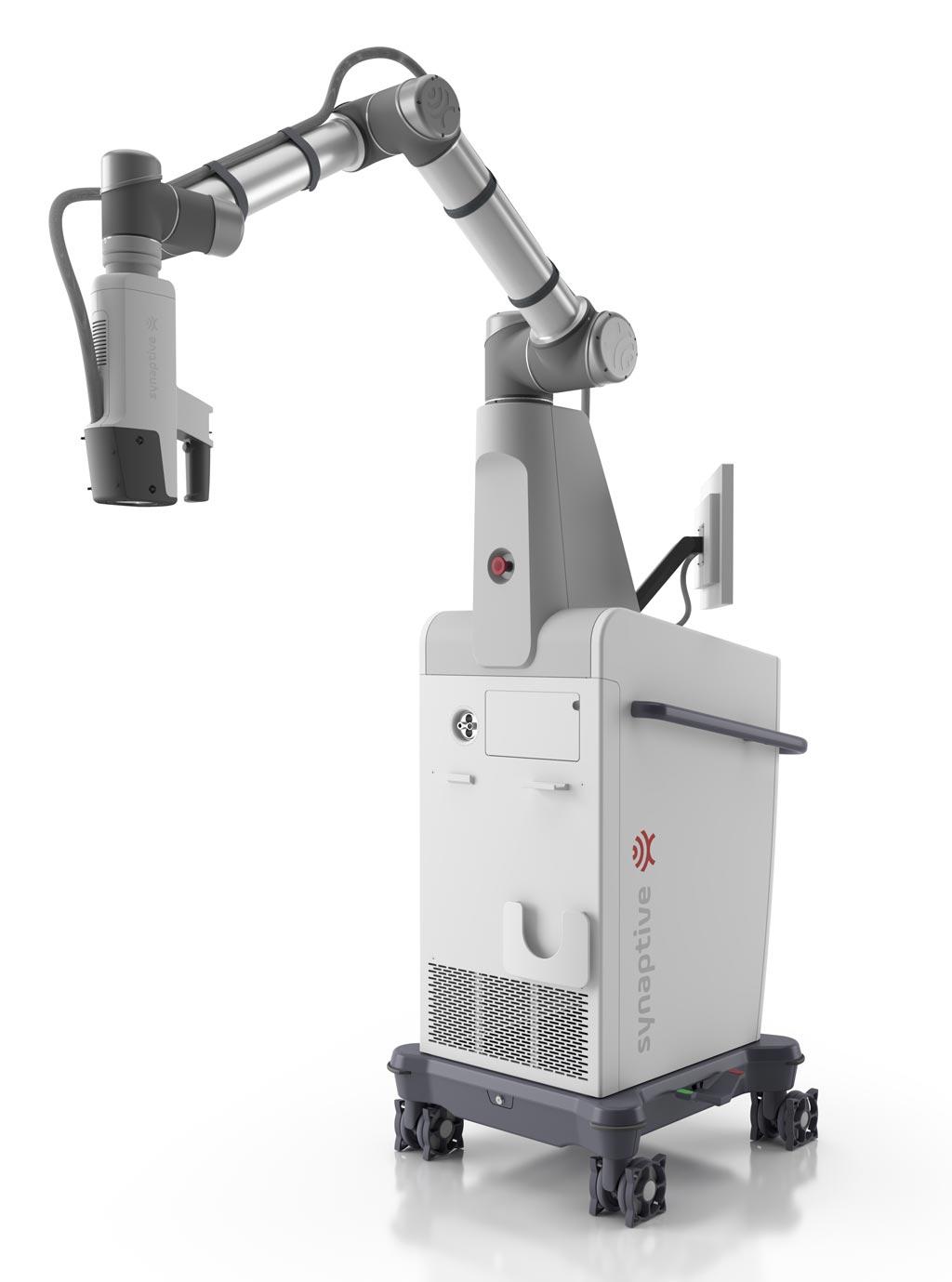 Imagen: El Modus V proporciona una alternativa al microscopio quirúrgico tradicional pues incluye un lente ocular que los neurocirujanos usan comúnmente para ver imágenes aumentadas del cerebro (Fotografía cortesía de Synaptive Medical).