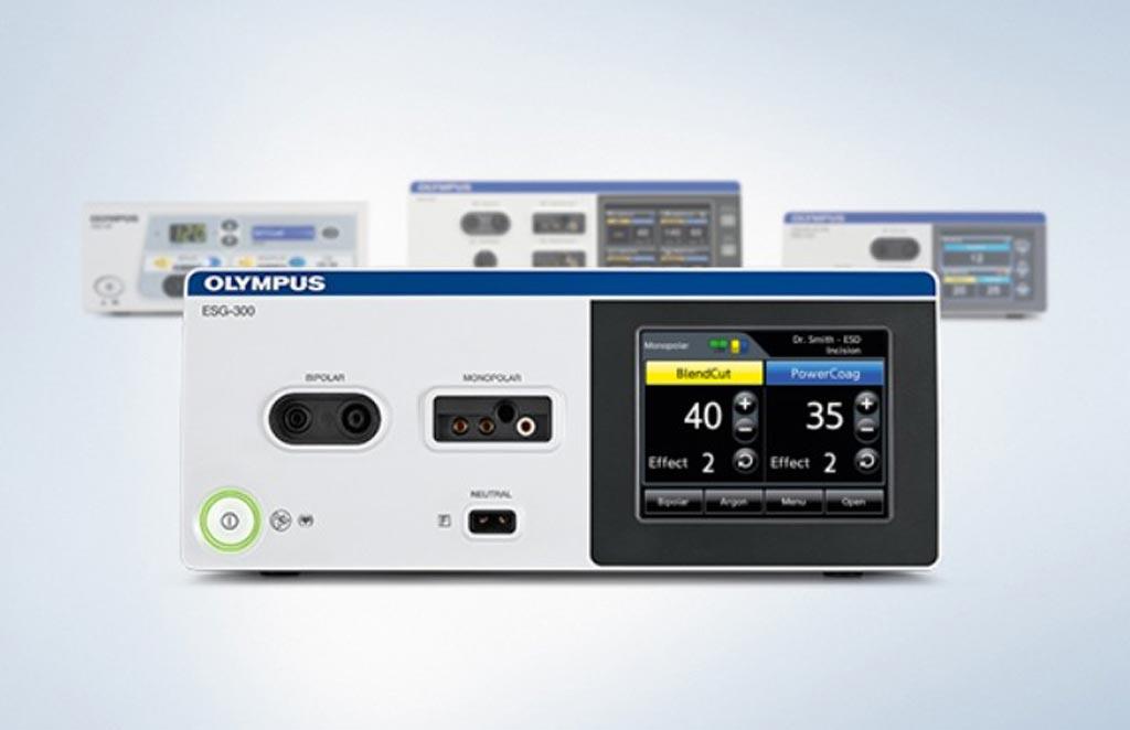 Imagen: El generador de electrocirugía ESG-300 permite procedimientos terapéuticos avanzados (Fotografía cortesía de Olympus Medical).
