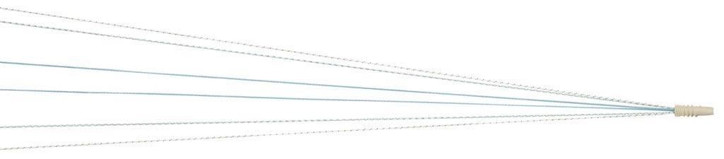 Imagen: Una sutura Dynacord unida al ancla Healix Advance (Fotografía cortesía de DePuy Synthes).