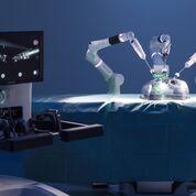Imagen: Un robot quirúrgico de cuatro muñecas imita la mano humana (Fotografía cortesía de CMR Surgical).