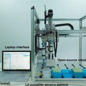 Imagen: El sistema de análisis electroquímico, RAPTER (Fotografía cortesía de Nature Communications).