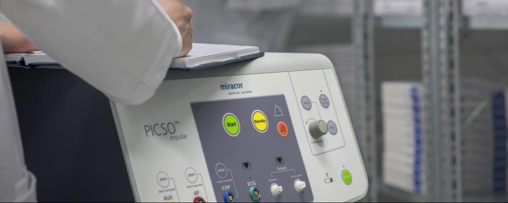 Imagen: La consola del controlador PiCSO Impulse (Fotografía cortesía de Miracor Medical).