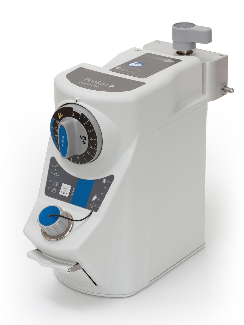 Imagen: El vaporizador Sigma EVA de desfluorano para anestesia (Fotografía cortesía de Penlon).