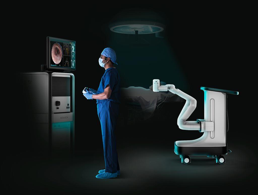 Imagen: Un estudio nuevo confirma que la robótica flexible ayuda en la broncoscopia (Fotografía cortesía de Auris Health).