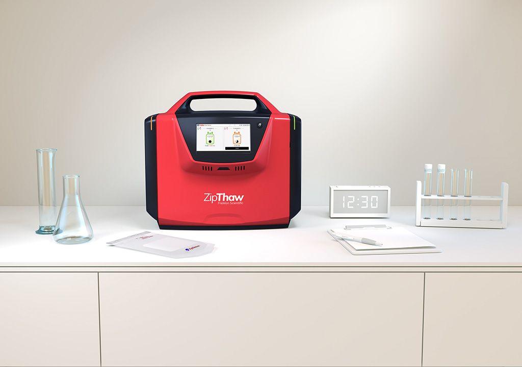 Imagen: El dispositivo ZipThaw descongela plasma de forma rápida y segura (Fotografía cortesía de FreMon Scientific)