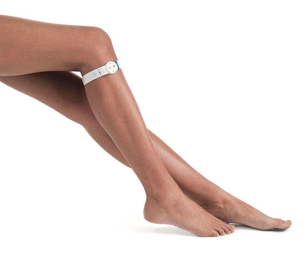 Imagen: El dispositivo de contracción muscular desechable geko (Fotografía cortesía de Sky Medical)