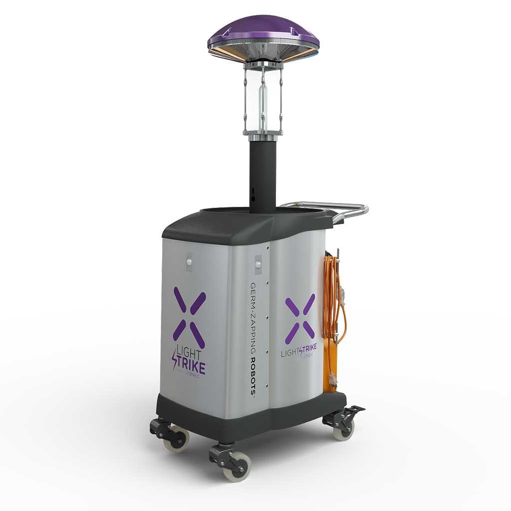 Imagen: El robot LightStrike Germ-Zapping (Fotografía cortesía de Xenex)