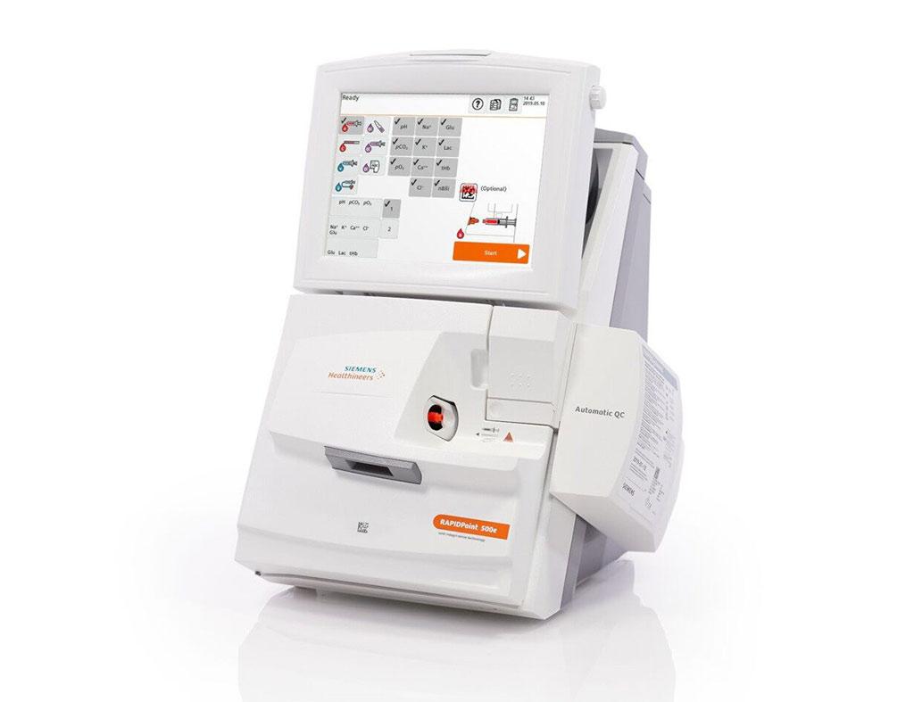 Imagen: El Analizador de Gases Sanguíneos RAPIDPoint 500e (Fotografía cortesía de Siemens Healthineers)