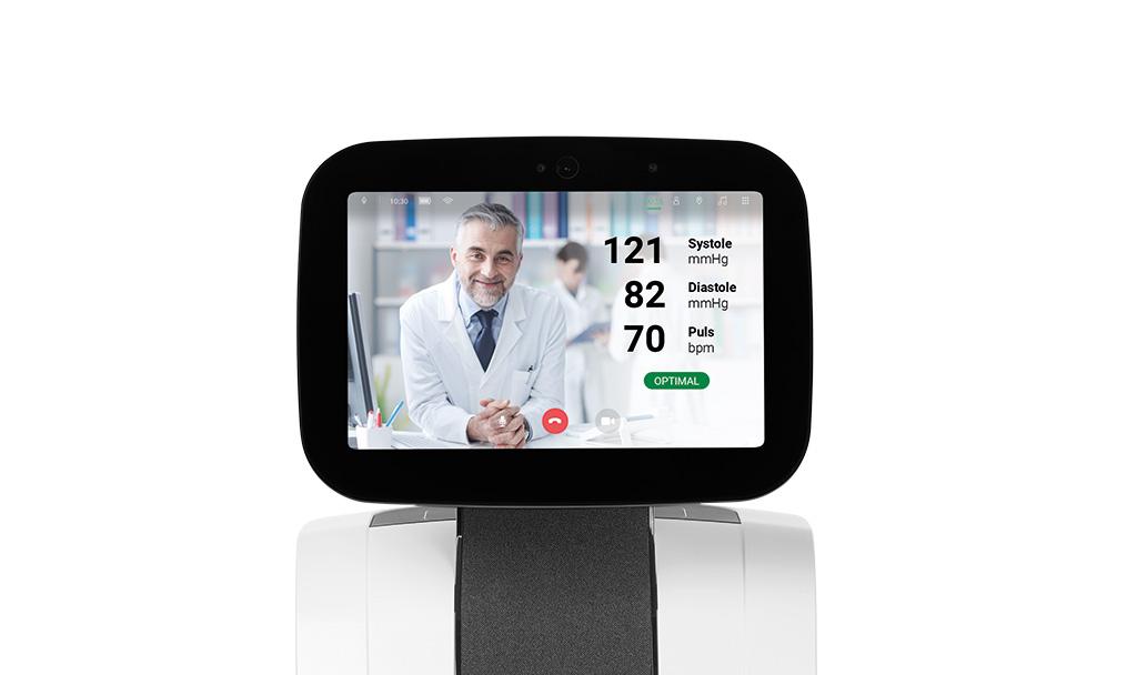 Imagen: el robot Meditemi junto con la tecnología Vayyar ayudará a los médicos y enfermeras a proporcionar tratamientos (Fotografía cortesía de Meditemi)
