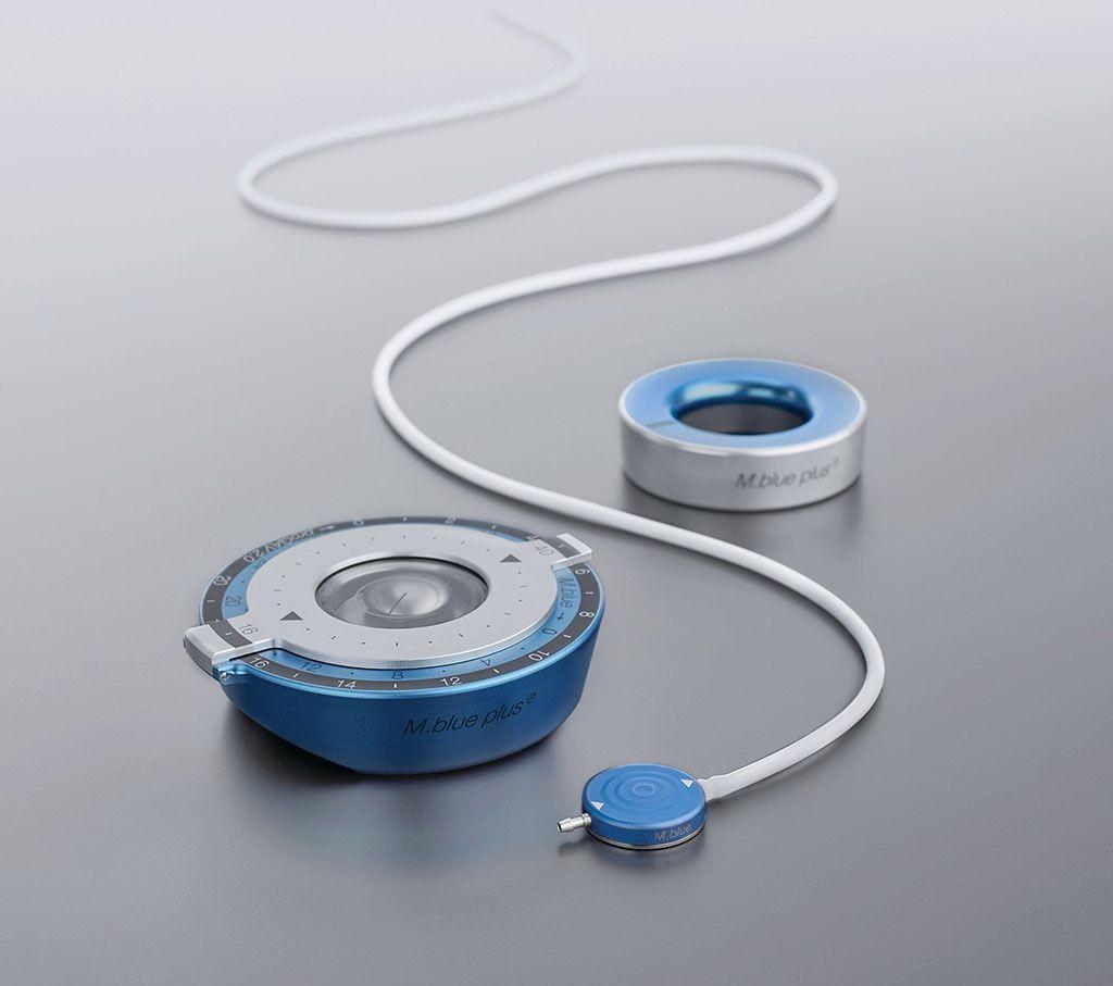 Imagen: La válvula gravitacional ajustable M.blue con válvula diferencial de presión fija integrada (Fotografía cortesía de Aesculap)
