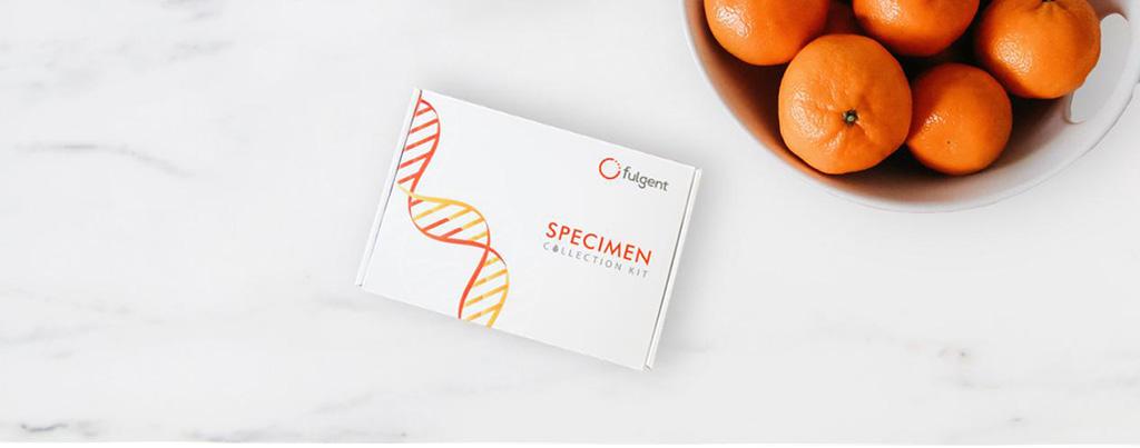 Imagen: Kit de recolección de muestras de Fulgent (Fotografía cortesía de Fulgent Genetics, Inc.)