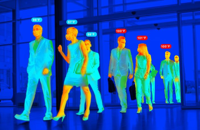 Imagen: El monitoreo de la fiebre a distancia puede inhibir la propagación de la COVID-19 (Fotografía cortesía de Advantech)