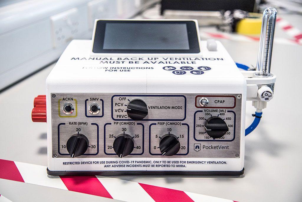 Imagen: El ventilador económico, PocketVent (Fotografía cortesía de NPL)