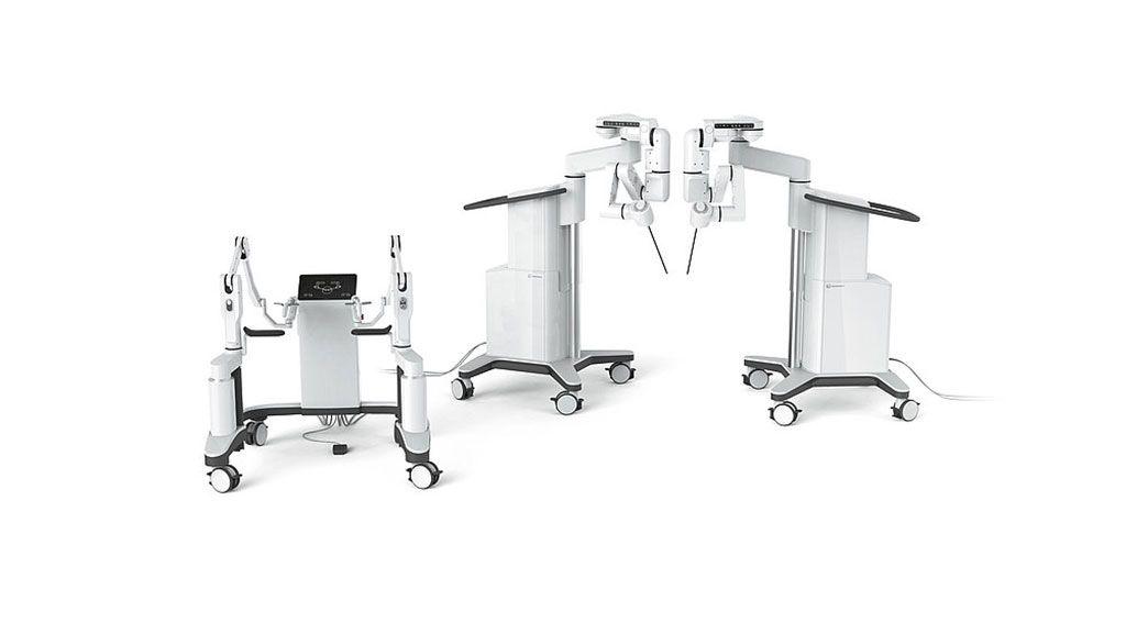 Imagen: El robot quirúrgico Dexter ayuda en los procedimientos laparoscópicos (Fotografía cortesía de Distalmotion)