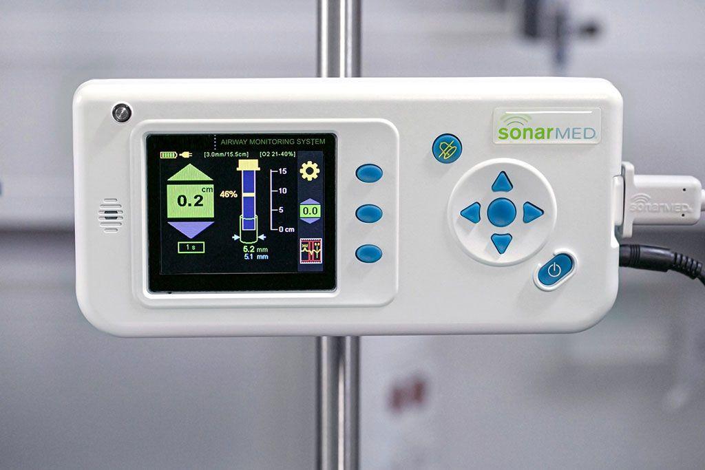 Imagen: El sistema de monitorización de las vías respiratorias SonarMed (Fotografía cortesía de Medtronic)