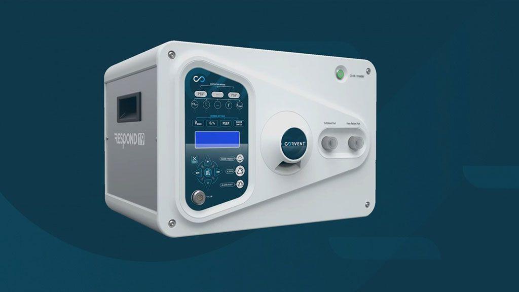 Imagen: El ventilador RESPOND-19 (Fotografía cortesía de CorVent Medical)