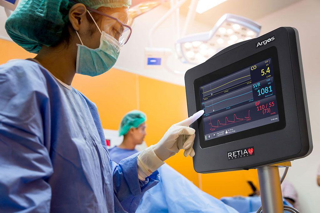 Imagen: El monitor de gasto cardíaco (GC) de Argos (Fotografía cortesía de Retia Medical)