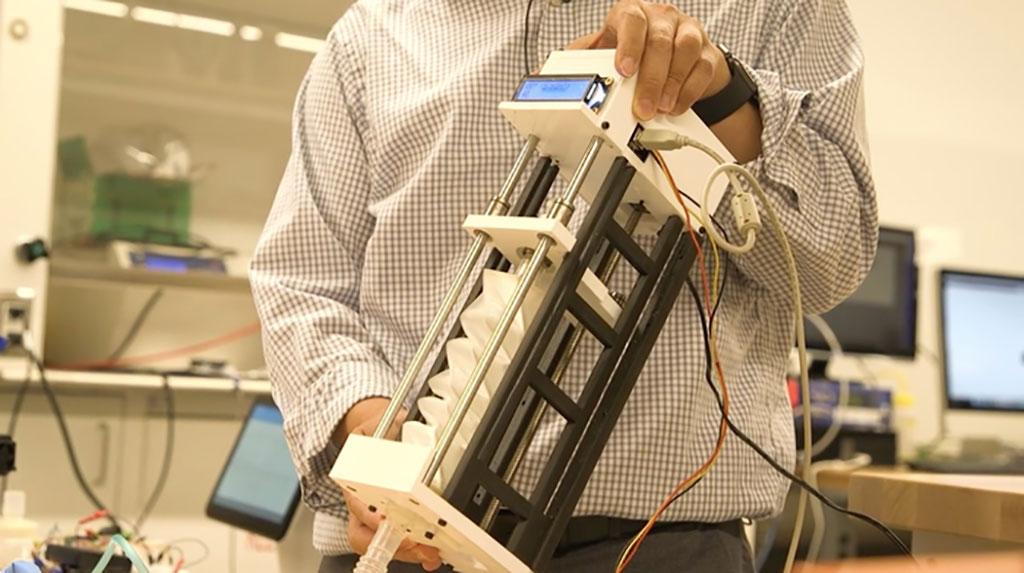 Imagen: Un ventilador portátil, de bajo costo, basado en una tecnología de origami inteligente, impresa en 3D, podría mejorar el tratamiento de la COVID-19 (Fotografía cortesía de la Universidad Simón Fraser)