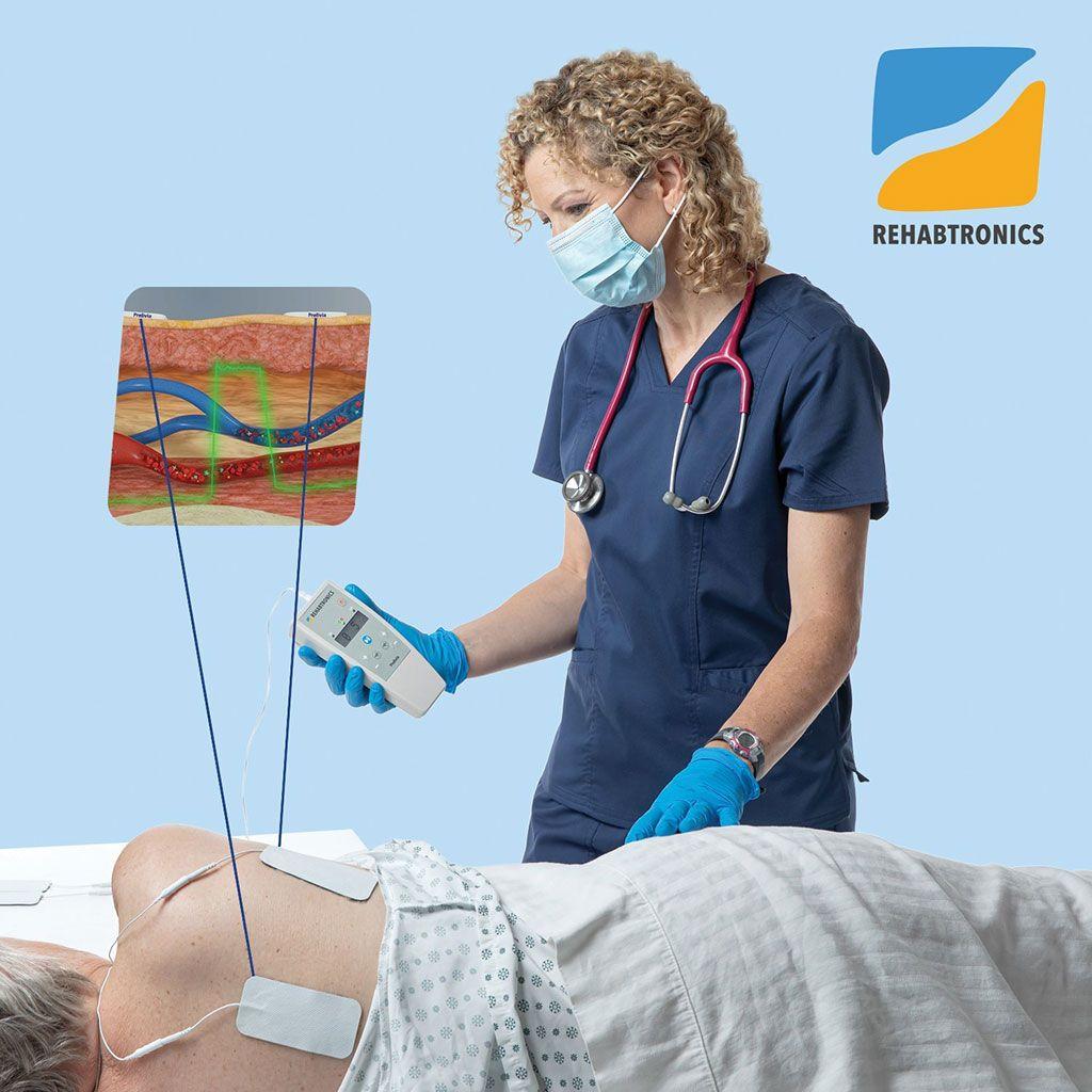 Imagen: El neuroestimulador Prelivia protege al paciente de las úlceras por presión. (Fotografía cortesía de Rehabtronics)