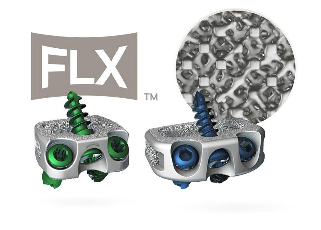 Imagen: Los dispositivos intersomáticos impresos en 3D, STALIF C FLX y STALIF M FLX (Fotografía cortesía de Centinel Spine)