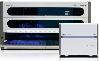Imagen: La plataforma automatizada cobas 4800 (Fotografía cortesía de Roche).