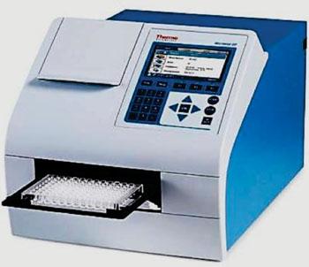 Imagen: El espectrofotómetro de microplacas, Multiskan GO UV/Vis (Fotografía cortesía de Thermo Fisher Scientific).