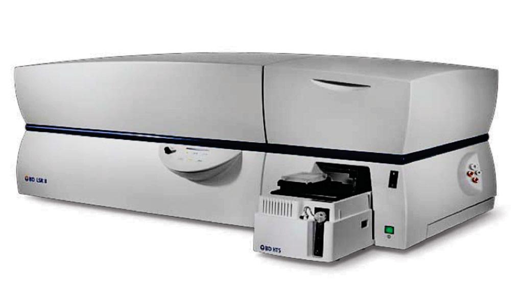 Imagen: El analizador de citometría de flujo BD LSR II (Fotografía cortesía de BD Bioscience).