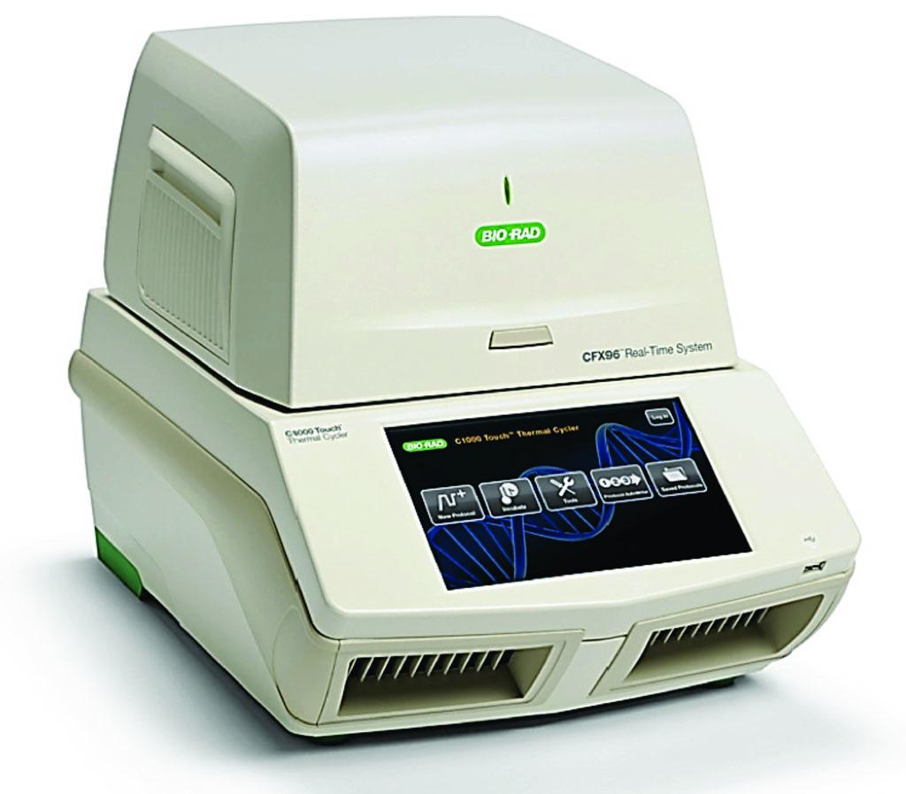 Imagen: El sistema de detección de PCR en tiempo real, CFX96 (Fotografía cortesía de Bio-Rad).
