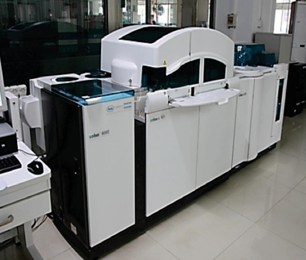 Imagen: El analizador de química clínica COBAS c501 (Fotografía cortesía de Roche Diagnostics).