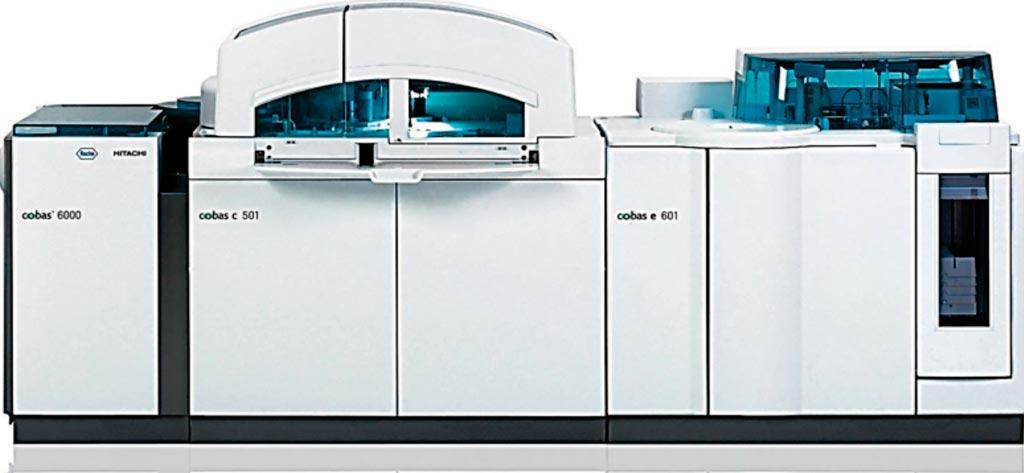 Imagen: El sistema analítico modular Cobas 6000 (Fotografía cortesía de Roche).